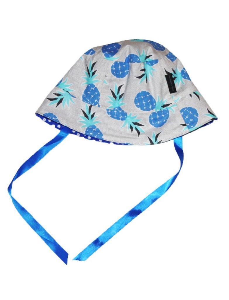 Alice et Simone Chapeau Réversible Alice et Simone avec Pois et Ananas/Summer Hat with Dots and Pineapples