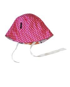 Chapeau Réversible Alice et Simone avec Pois et Girafes/Summer Hat with Dots and Girafes