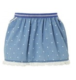 Noppies Jupe Imitation Jean avec Pois de Noppies/ Skirt WVN Short Pipa Dot