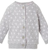 Noppies Veste à Coeurs de Noppies/ Cardigan Jrsy Yar Hearts Light Grey Melange