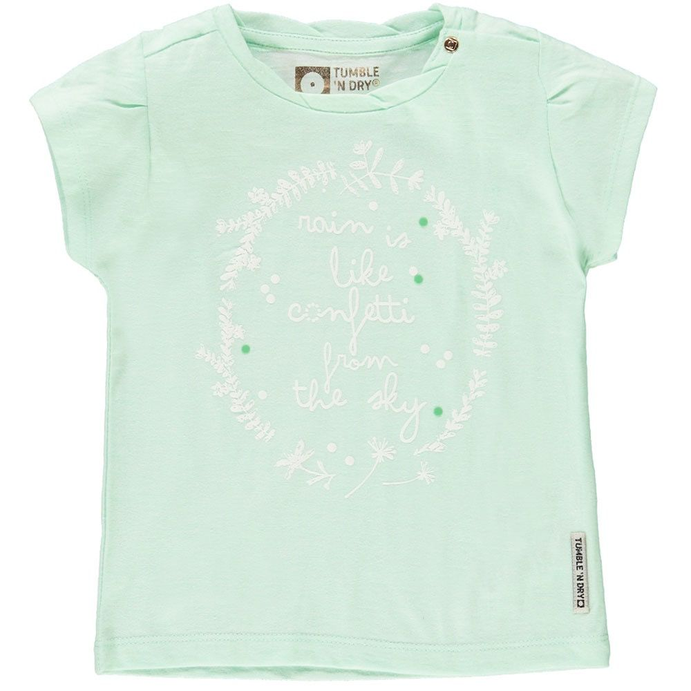 Tumble 'N Dry Chandail à Manches Courtes de Tumble 'N Dry/ Jikke Soft Mint Shirt