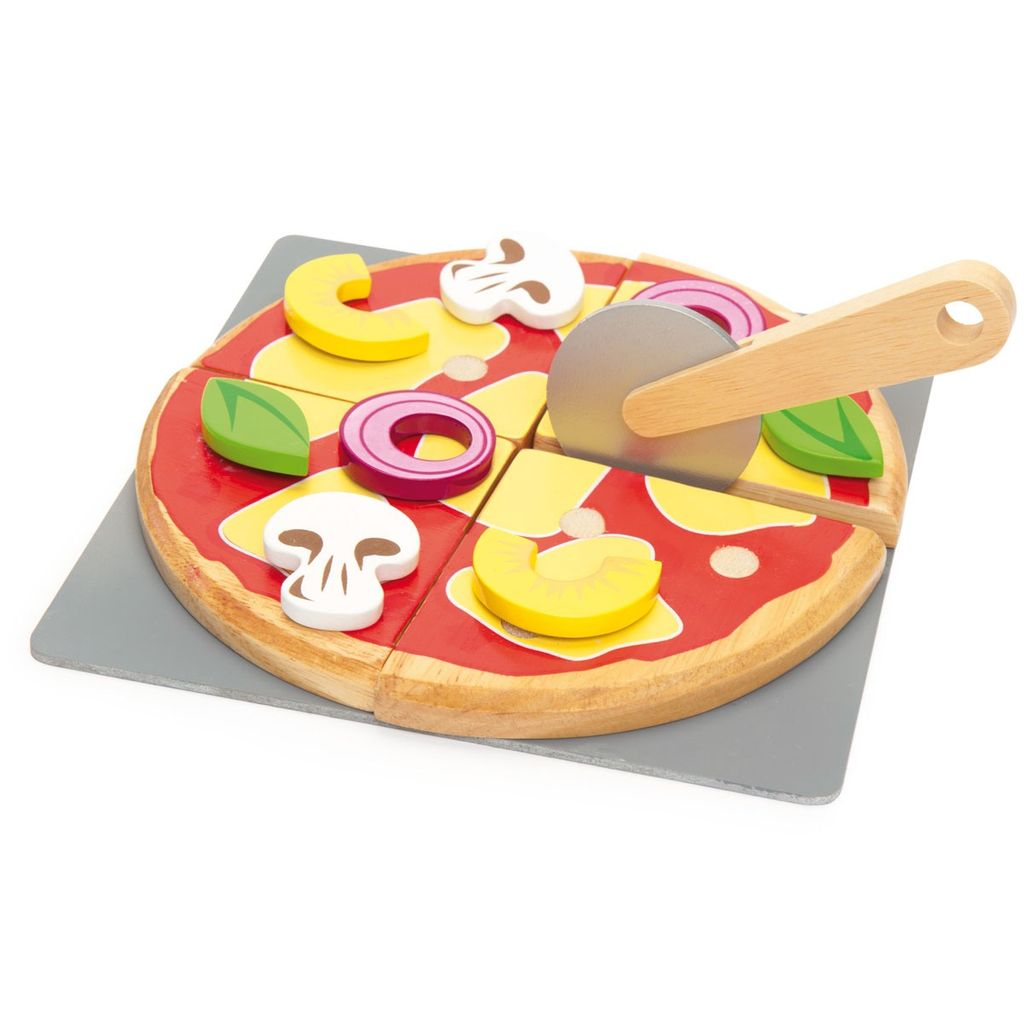 Le Toy Van Pizza à Créer en Bois Honeybake de Toy Van/ Wooden Pizza