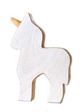 Atelier Saint-Cerf Licorne en Bois Recyclé d'Atelier Saint-Cerf/ Wooden Unicorn-Blanc
