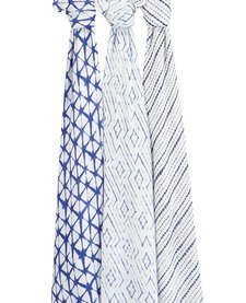 Couverture d'Emmaillotage Aden & Anais Bamboo Swaddle Indigo (3pack)