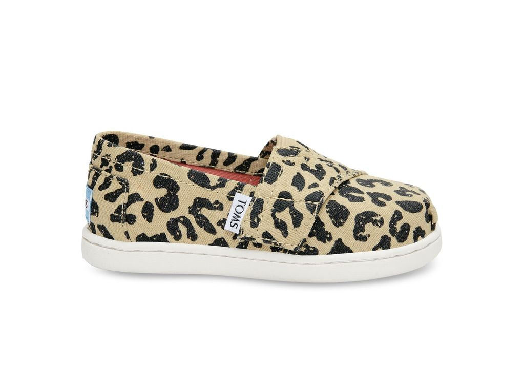 TOMS FW16-Chaussures Toms Shoes - Classic Cheetah Metallic Linen