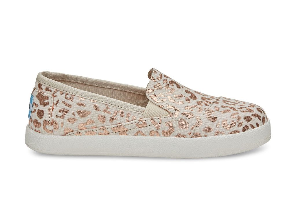 TOMS FW16-Chaussures Toms Avalon Sneaker Natural Cheetah Foil Youth