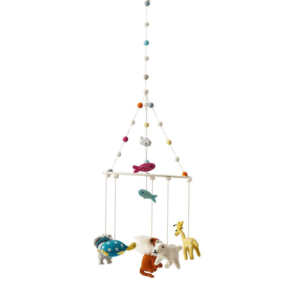 Petit Pehr Mobile avec Animaux de Petit Pehr/ Noah's Ark Baby Mobile