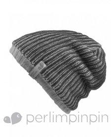 FW17 Tuque Acrylique Garçon de Perlimpinpin/ Winter Hat, Gris, 6-10A