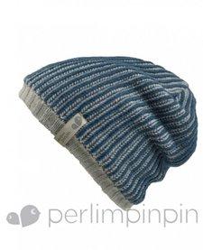 FW16 Tuque Acrylique Garçcon de Perlimpinpin/ Winter Hat, Marine, 6-10A