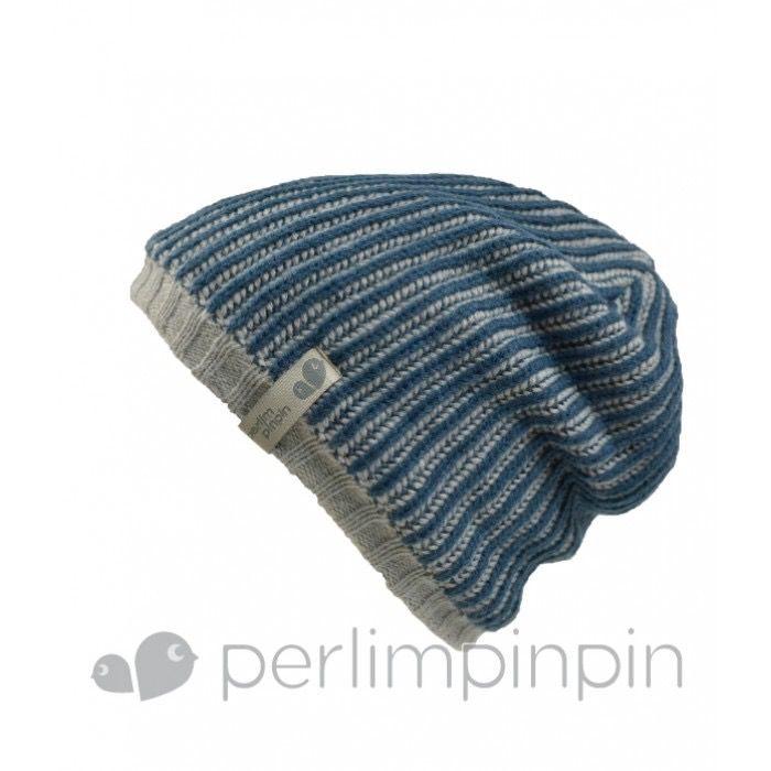 Perlimpinpin FW17 Tuque Acrylique Garçcon de Perlimpinpin/ Winter Hat, Marine, 6-10A