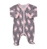 Coccoli FW16 Pyjama Une Pièce avec Oiseaux de Coccoli/ Cotton Footie