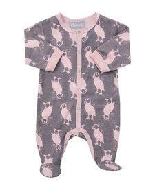FW16 Pyjama Une Pièce avec Oiseaux de Coccoli/ Cotton Footie