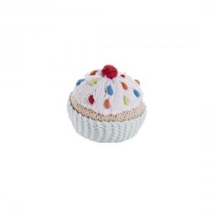 Pebble Hochet en Tricot Cupcake Bleu Pebble/ Blue Cupcake Rattle