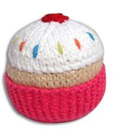 Hochet en Tricot Cupcake Rose Pebble/ Pink Cupcake Rattle