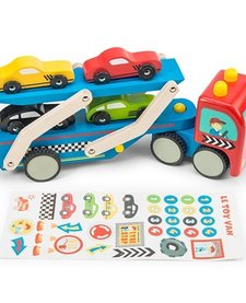 Camion de Transport de Voitures de Course Toy Van/ Race Car Transporter Set