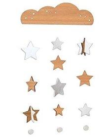 Mobile Étoiles en Bambou Petit Collage/ Starry Sky Deluxe Bamboo Mobile