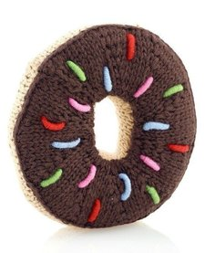 Hochet en Tricot Beigne Chocolat Pebble/ Chocolate Donut Rattle