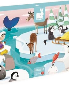 Puzzle Tactile Géant Hiver de Janod/ Life on Ice Giant Tactile Puzzle