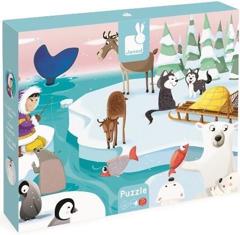 Janod Puzzle Tactile Géant Hiver de Janod/ Life on Ice Giant Tactile Puzzle