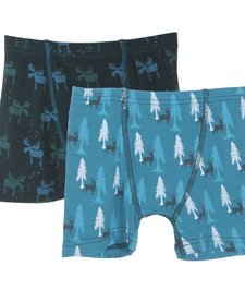 FW16 Ensemble de 2 Boxers de Kickee Pants/Kickee Pants Boxer Briefs Set of 2 Pine Moose & Cedare and Elk