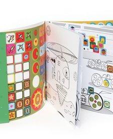 Cahier de Gommettes Véhicules Extraordinaires de Mon Petit Art/ Stickers Book