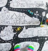 Rue Tabaga Coloriage Géant Ville de Rue Tabaga (92cm/122cm)/ Giant Coloring Poster City