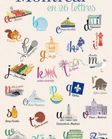 Carte Postale Montréal en 26 Lettres de Lili Graffiti