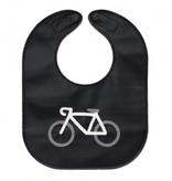 Mally Bibs Bavette en cuir de Mally Designs Monochrome Bicycle Leather Bib