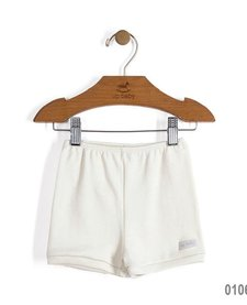 SS17 Culottes Courtes Up Baby/ Solid Jersey Cotton Shorts White