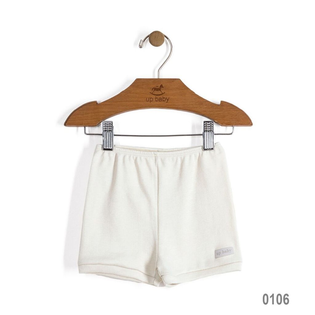 Up Baby SS17 Culottes Courtes Up Baby/ Solid Jersey Cotton Shorts White