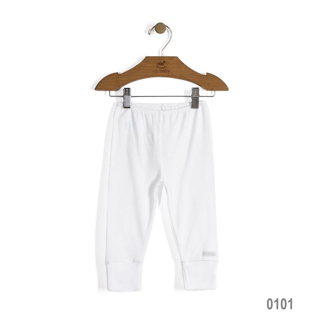 Up Baby SS17 Legging Uni Up Baby/ Solid Jersey Cotton Pants White