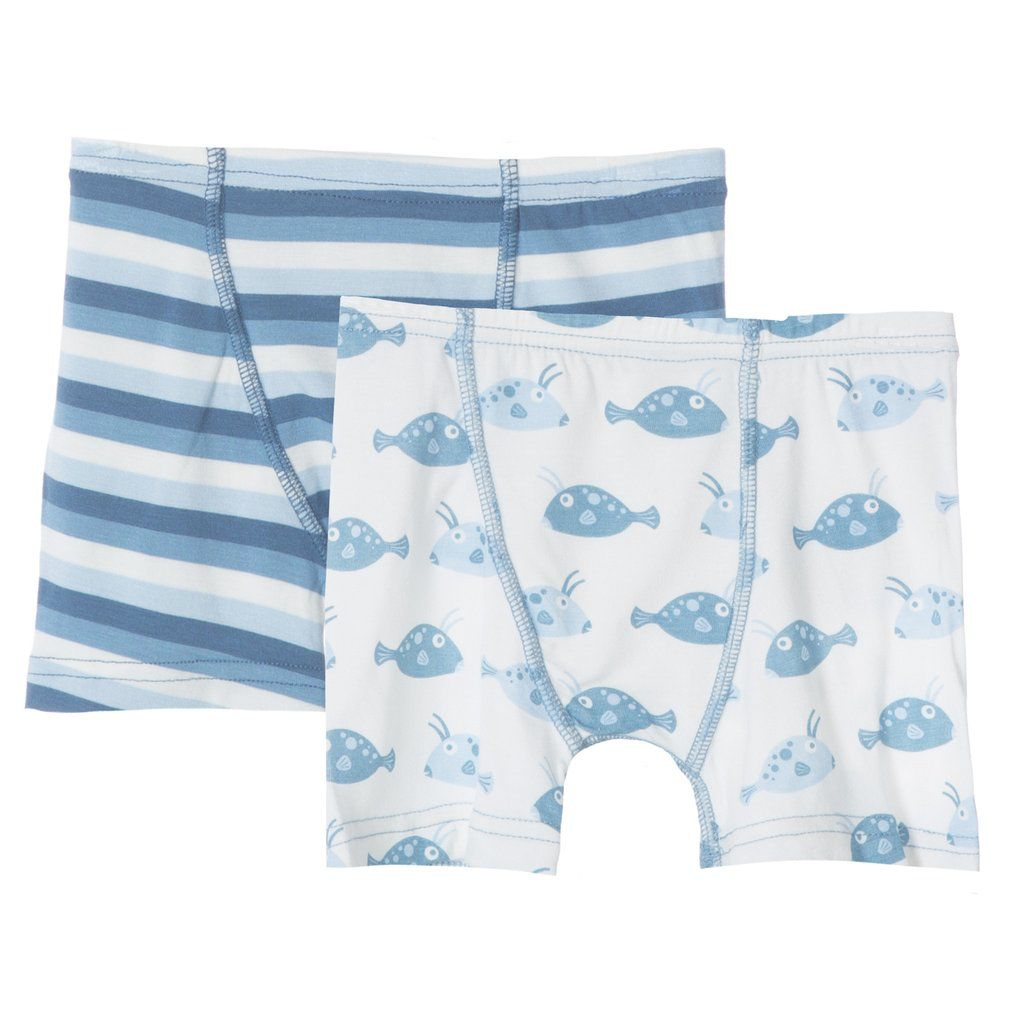 KicKee Pants SS17 Ensemble De 2 Boxers de Kickee Pants/ Kickee Pants Boxer Briefs Set of 2