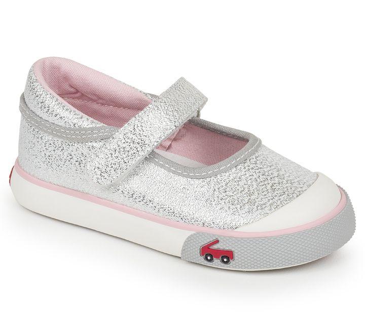See Kai Run SS17 Souliers Marie Silver Glitter See Kai run Sneakers