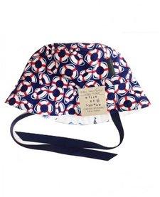 SS17 Chapeau Réversible Alice et Simone Boués Marine et Bateau Blanc /Summer Hat