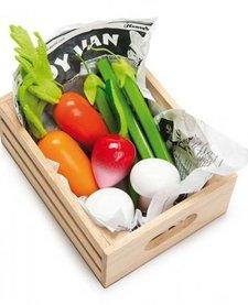 Panier Légumes Frais du Marché en Bois de Toy Van/ Wooden Vegetables Toys