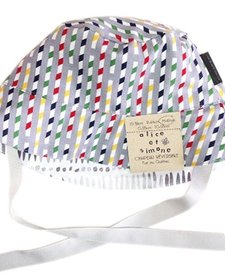 SS17 Chapeau Réversible Alice et Simone Pailles Grises /Summer Hat
