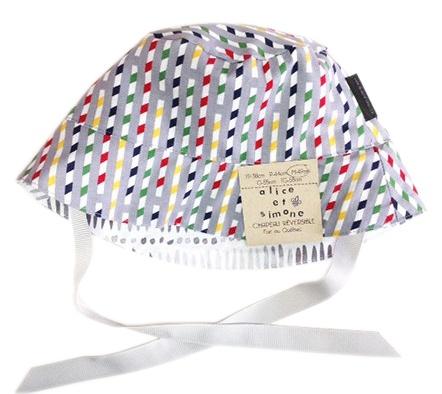 Alice et Simone SS17 Chapeau Réversible Alice et Simone Pailles Grises /Summer Hat