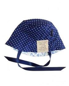 SS17 Chapeau Réversible Alice et Simone Pois Marine et Petits Lapins /Summer Hat