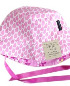 SS17 Chapeau Réversible Alice et Simone Gouttes Rose et Fleurs /Summer Hat