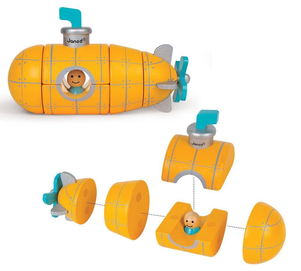 Janod Sous-Marin-Ensemble Aimanté<br /> Submarine Magnet Kit<br /> Janod