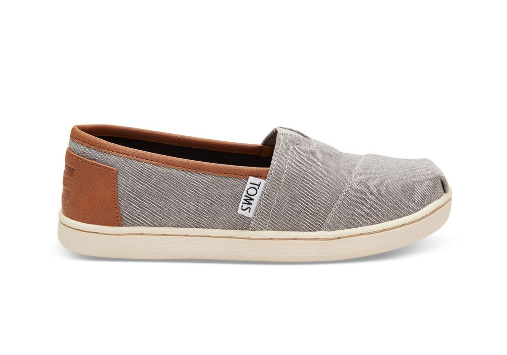 TOMS SS17 Chaussures Toms Shoes - Classic Frost Grey Chambray Pu