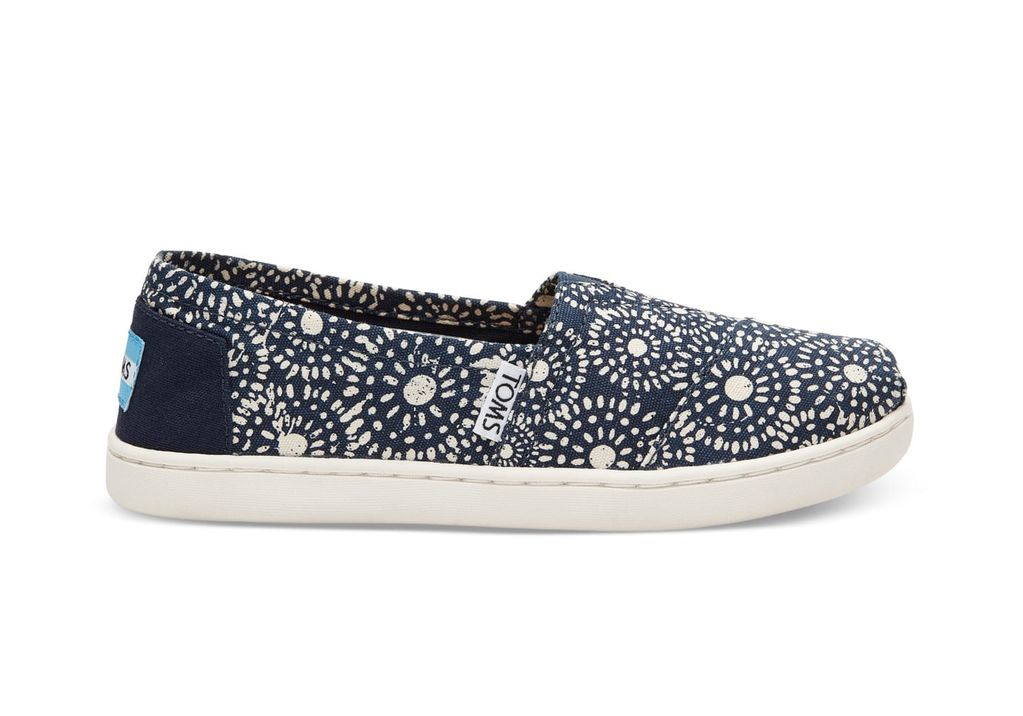 TOMS SS17 Chaussures Toms Shoes - Classic Navy Shibori Dots