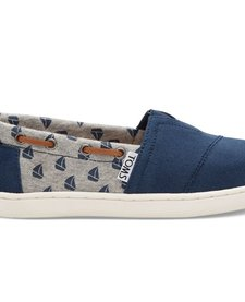 SS17 Chaussures Toms Shoes - Bimini Navy Canvas Sailboats
