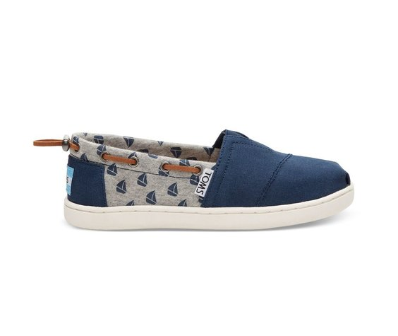 TOMS SS17 Chaussures Toms Shoes - Bimini Navy Canvas Sailboats