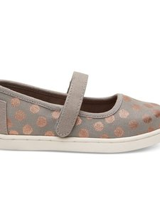 SS17 Chaussures Toms Shoes - Mary Jane Grey Rose Gold Polka Dot
