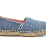 TOMS SS17 Chaussures Toms Shoes - Platform Alpargata Blue Slub Chambray