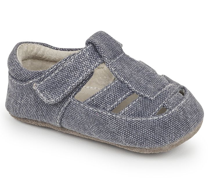 See Kai Run SS17 Souliers Bébé Jude Gray Canvas See Kai Run Shoes