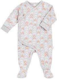 SS17 Pyjama Géométrique Pêche de Petit Lem/Baby Sleeper Knit