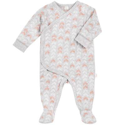 Petit Lem SS17 Pyjama Géométrique Pêche de Petit Lem/Baby Sleeper Knit