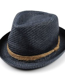 SS17 Chapeau de Paille Appaman/ Houston Fedora Hat Navy Blue